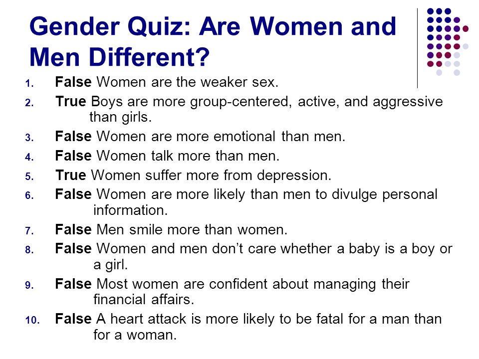 Gender Quiz: Are Women and Men Different
