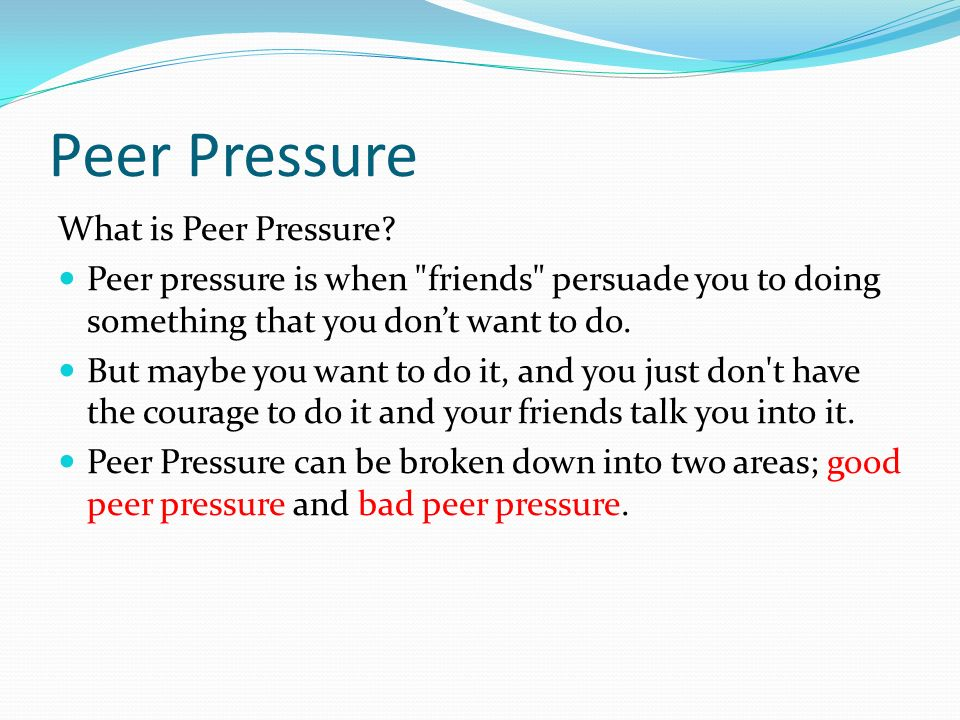 peer pressure speech