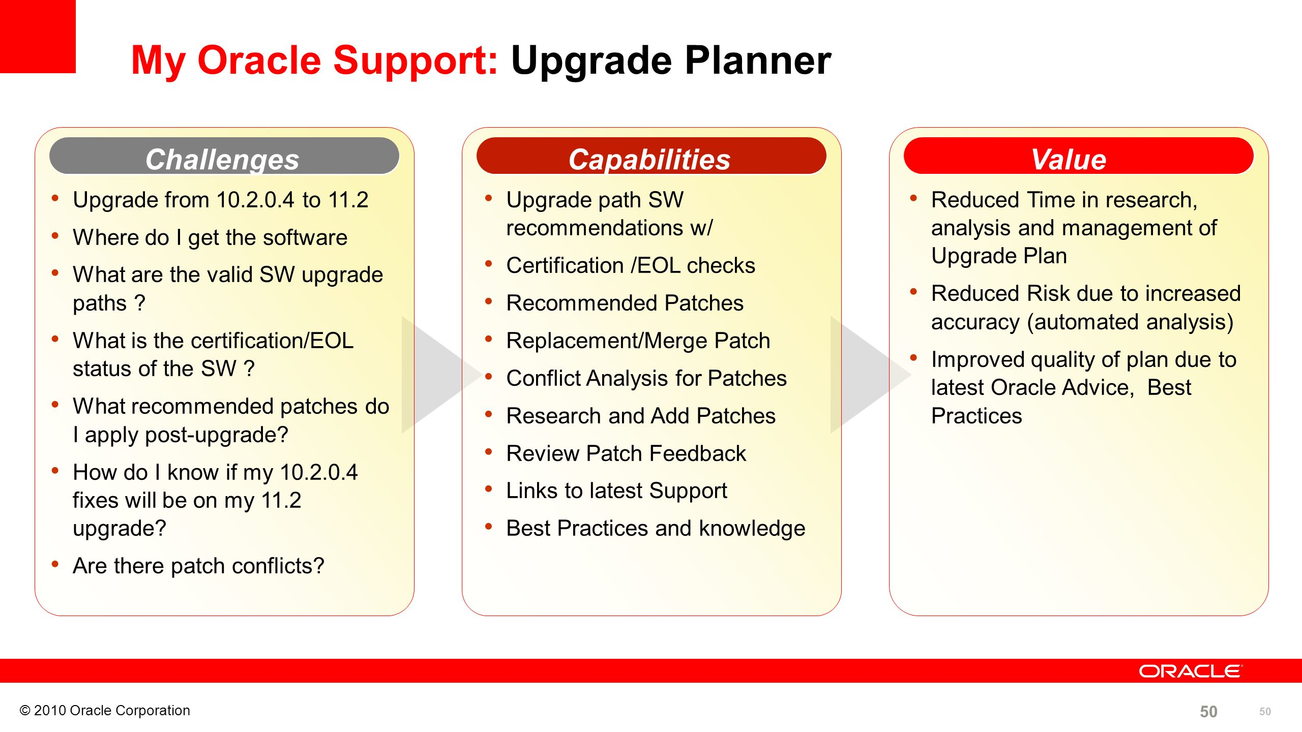 My Oracle Support: Upgrade Planner