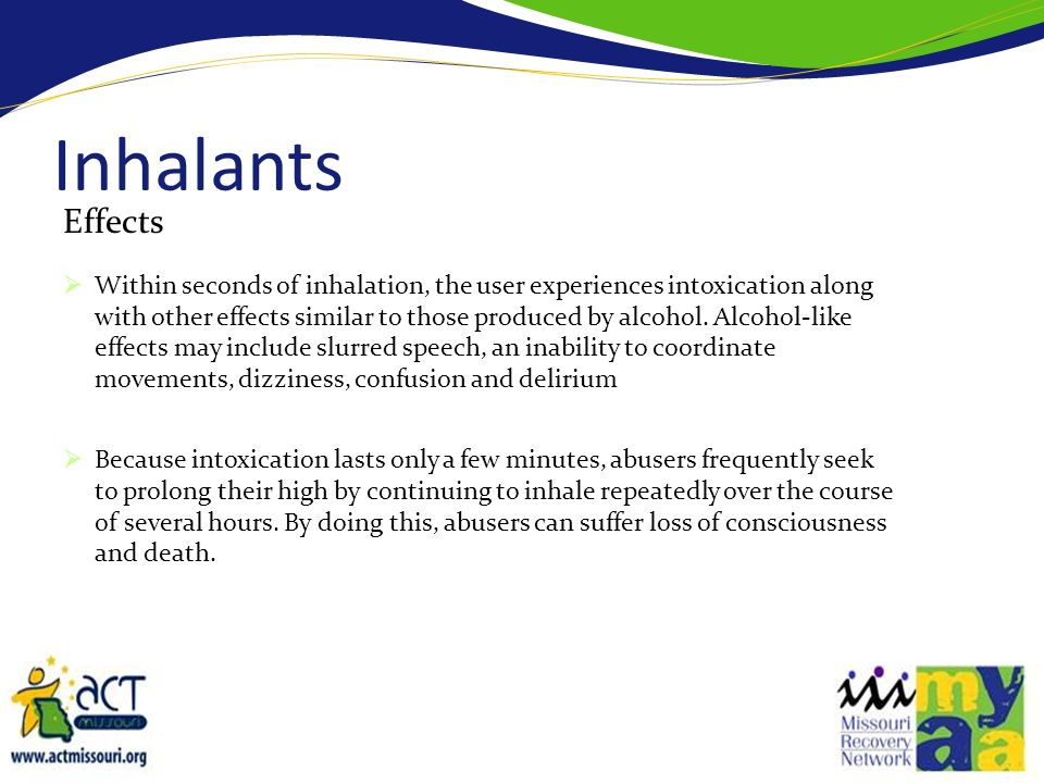 Inhalants Effects.