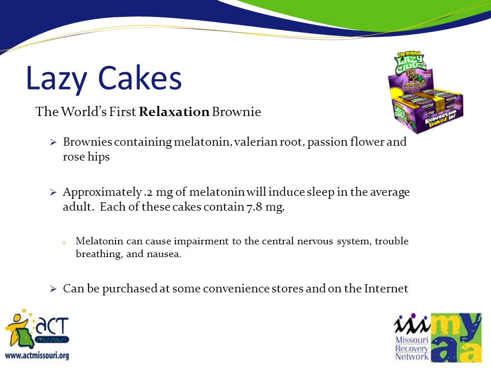 Lazy Cakes The World's First Relaxation Brownie