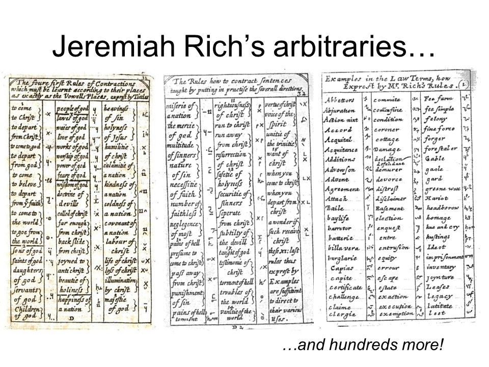 Jeremiah Rich's arbitraries…