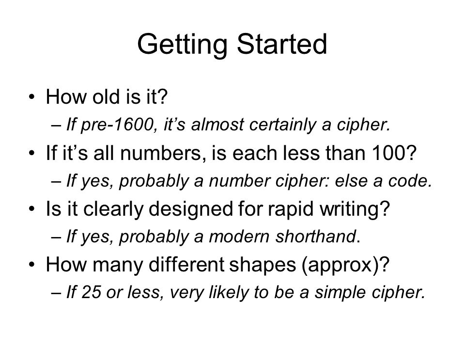 Getting Started How old is it