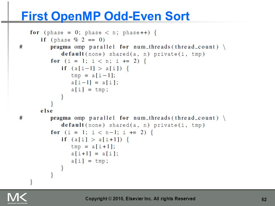 First OpenMP Odd-Even Sort