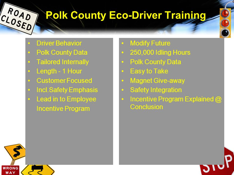 Polk County Eco-Driver Training