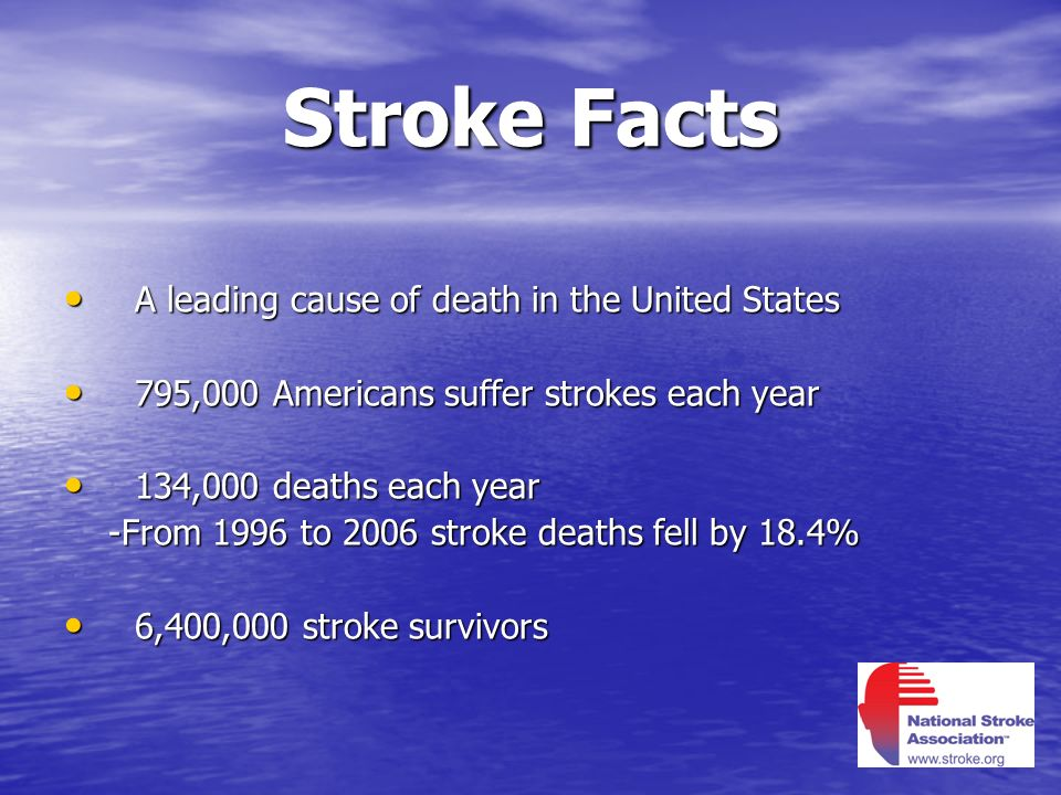 Stroke Facts A leading cause of death in the United States