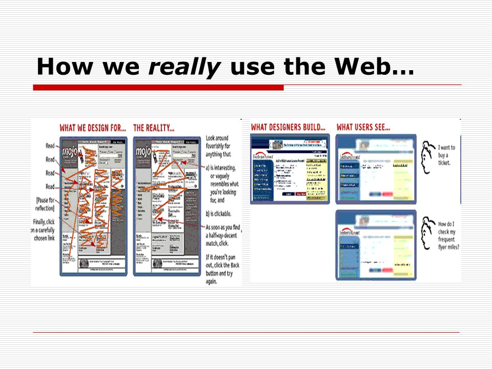 How we really use the Web…