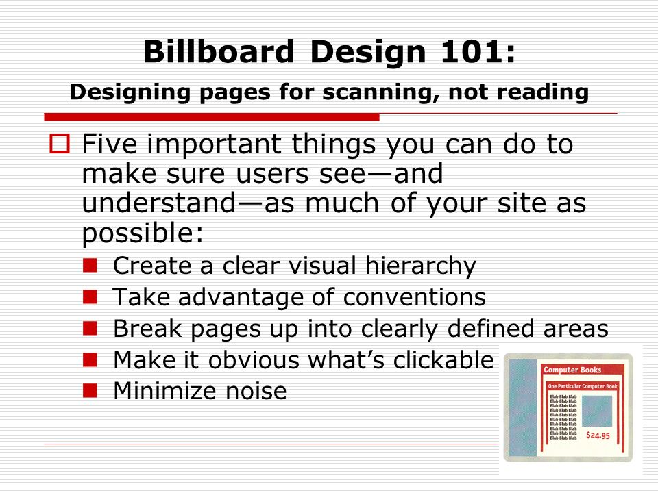 Billboard Design 101: Designing pages for scanning, not reading