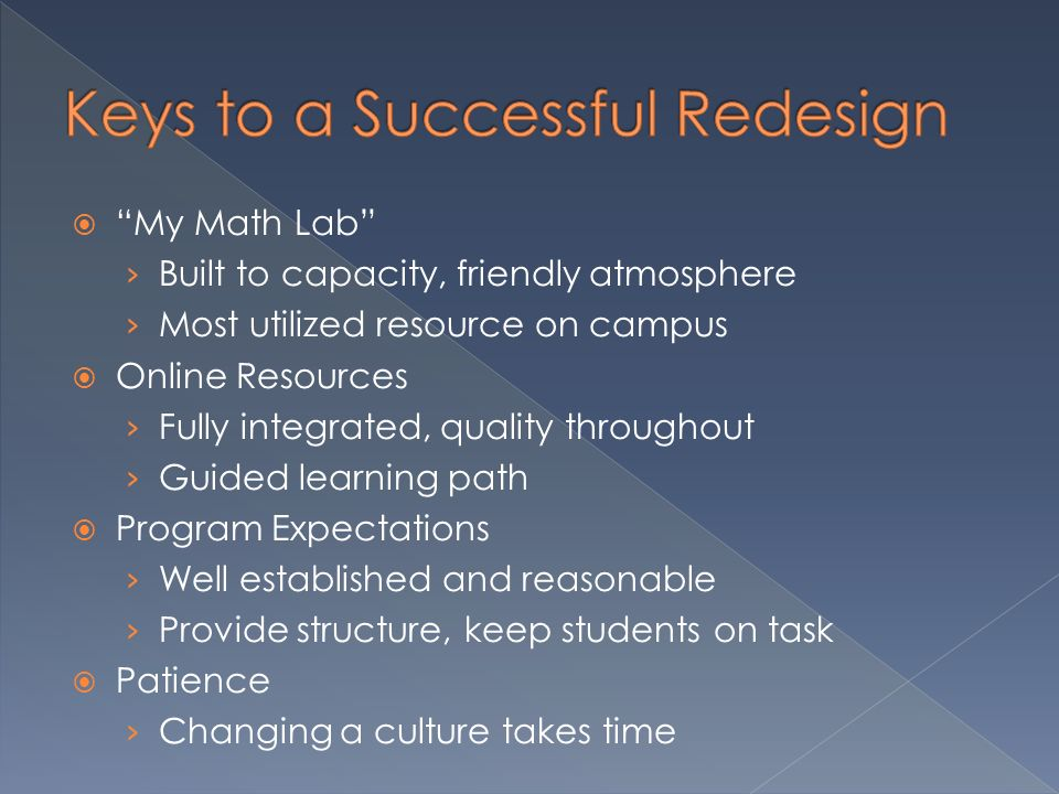 Keys to a Successful Redesign
