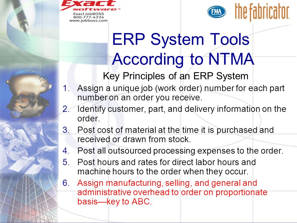 ERP System Tools According to NTMA