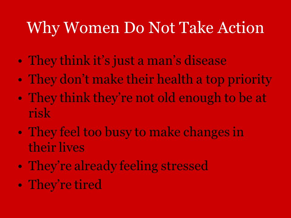 Why Women Do Not Take Action