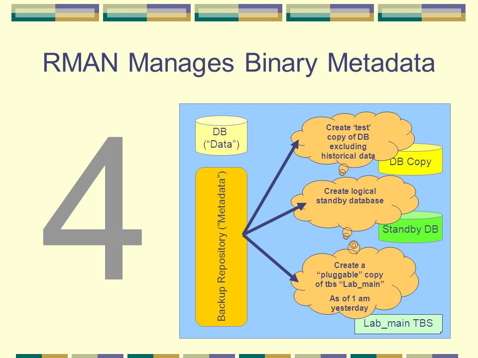 RMAN Manages Binary Metadata