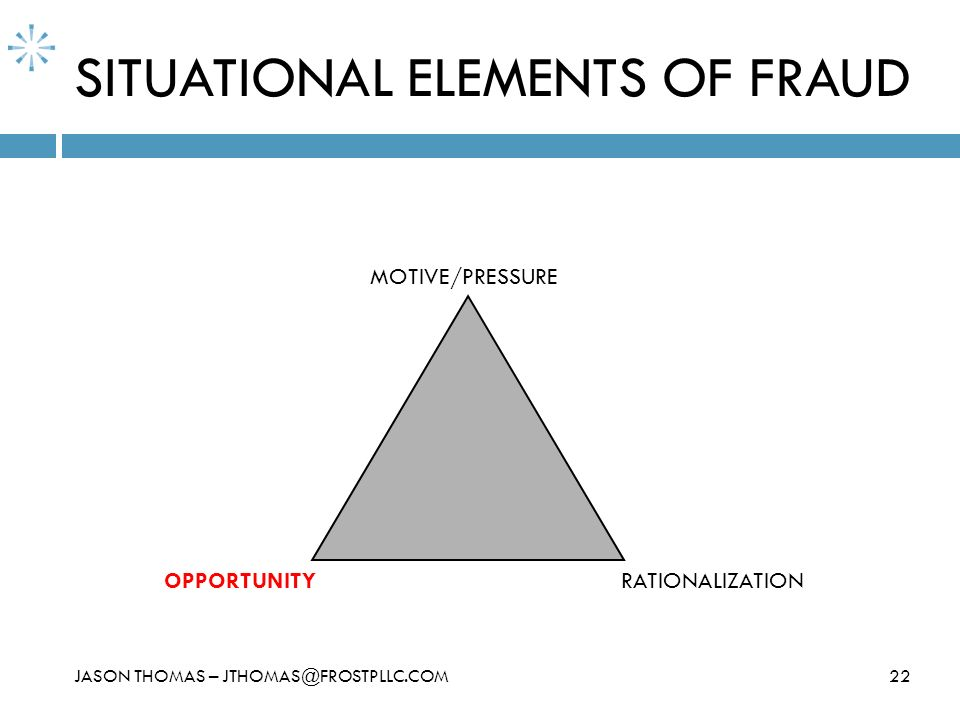 SITUATIONAL ELEMENTS OF FRAUD