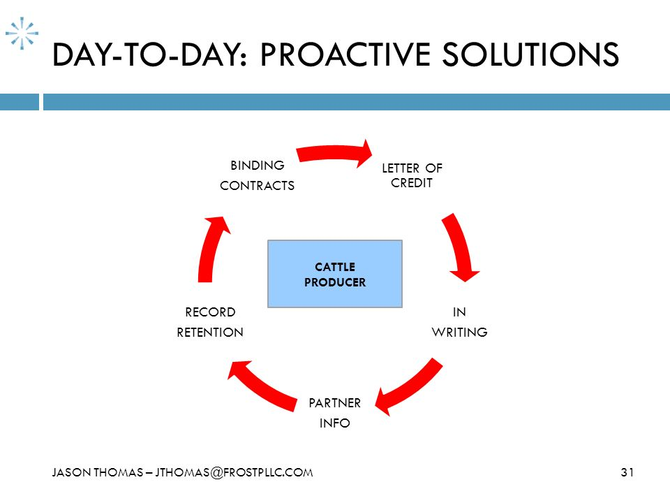 DAY-TO-DAY: PROACTIVE SOLUTIONS