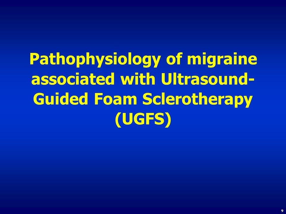 Pathophysiology of migraine associated with Ultrasound-Guided Foam Sclerotherapy (UGFS)