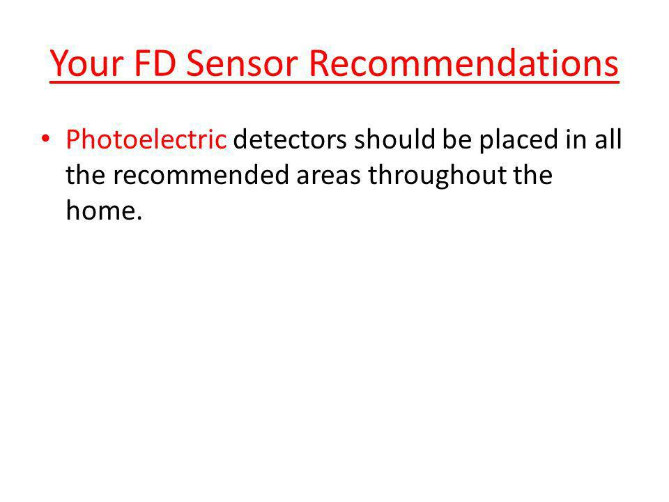 Your FD Sensor Recommendations