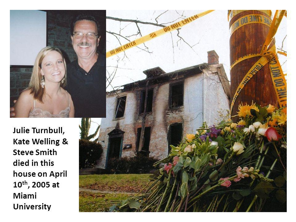 Julie Turnbull, Kate Welling & Steve Smith died in this house on April 10th, 2005 at Miami University