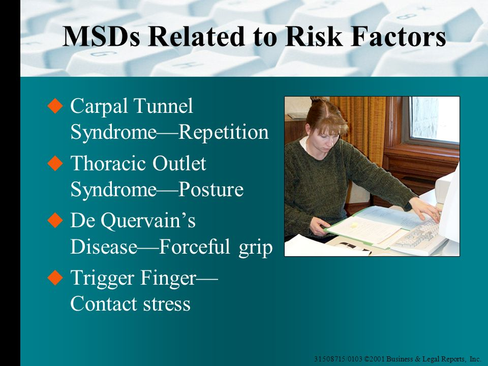 MSDs Related to Risk Factors