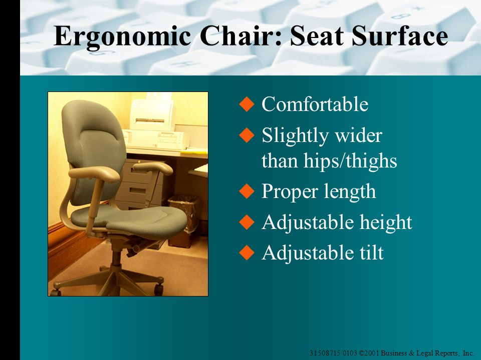 Ergonomic Chair: Seat Surface