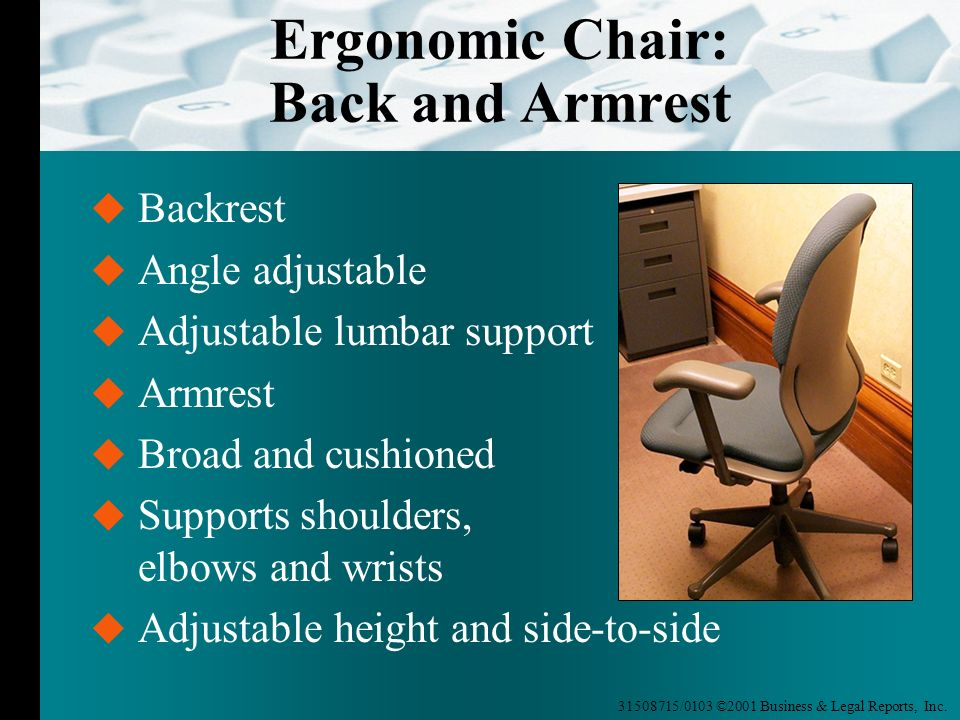 Ergonomic Chair: Back and Armrest