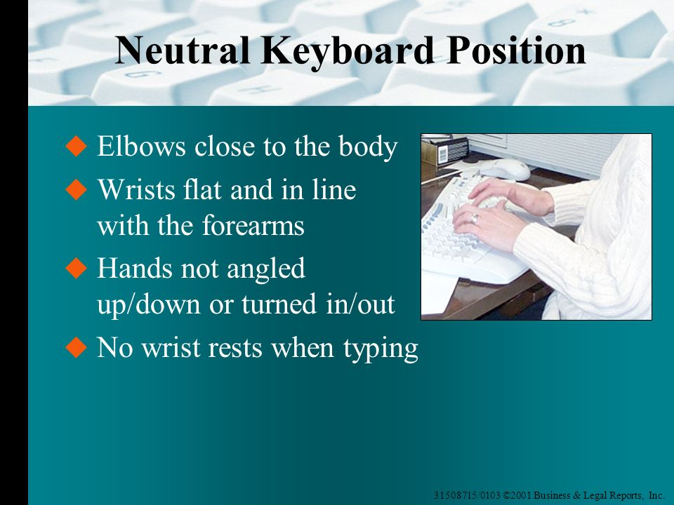 Neutral Keyboard Position