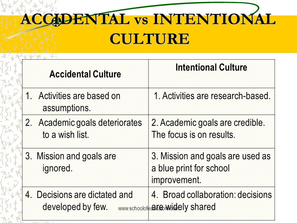 ACCIDENTAL vs INTENTIONAL CULTURE