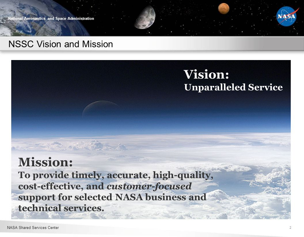 NSSC Vision and Mission