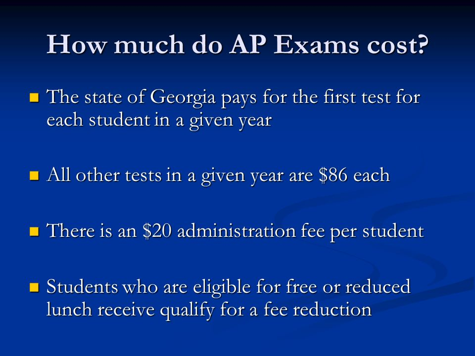 How much do AP Exams cost