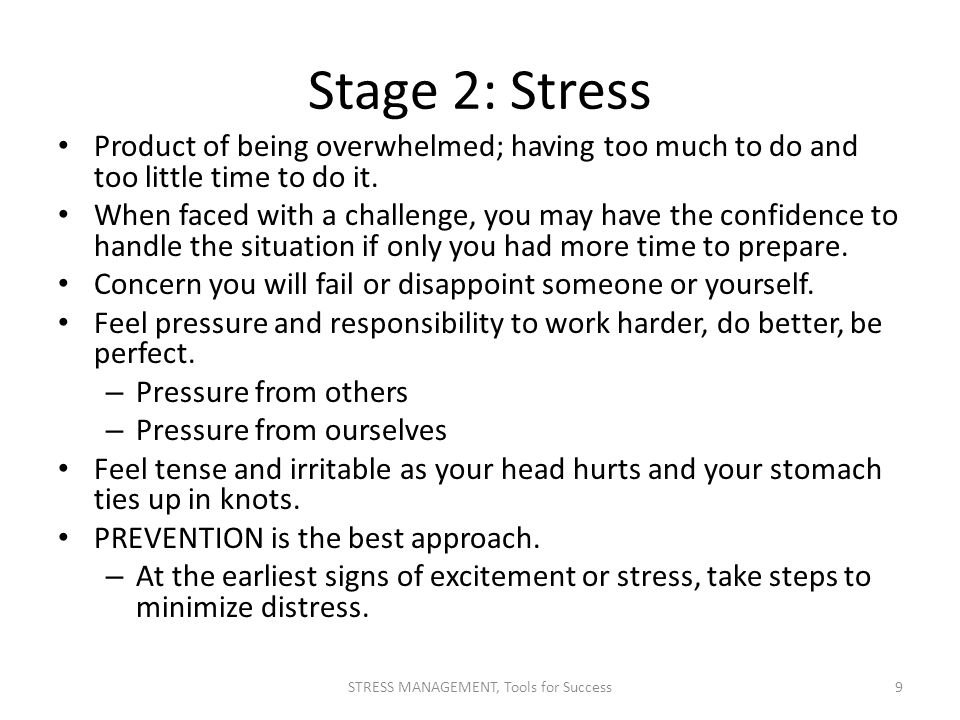 STRESS MANAGEMENT, Tools for Success