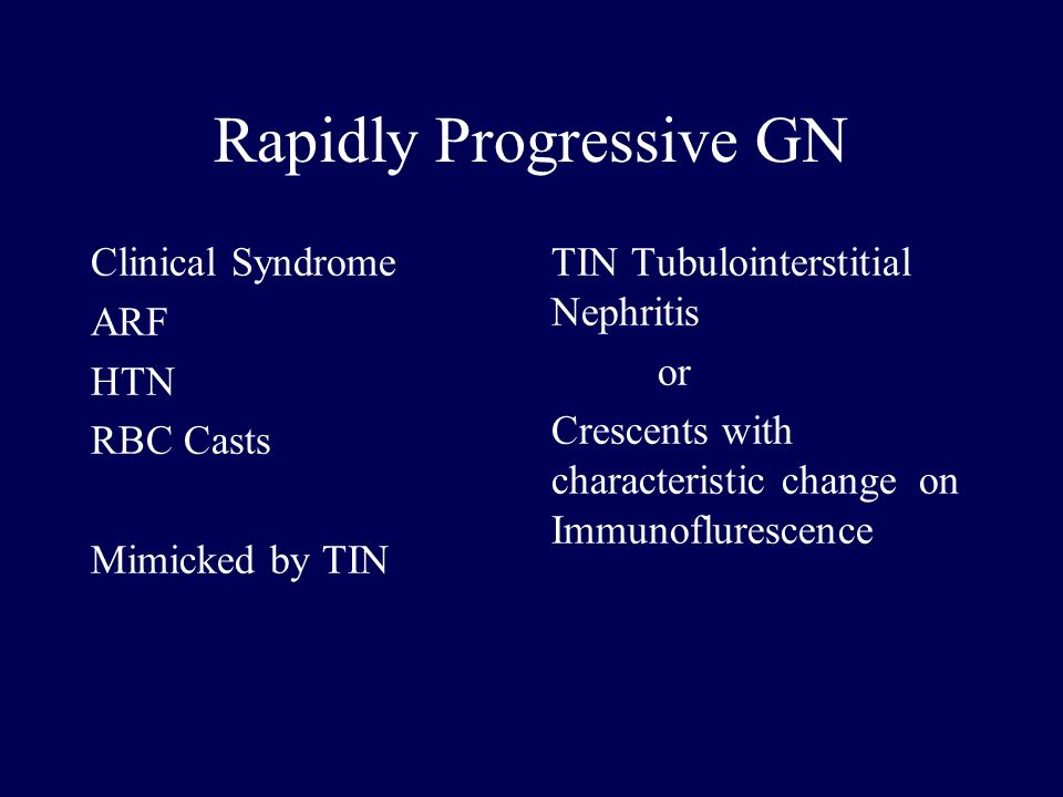 Rapidly Progressive GN