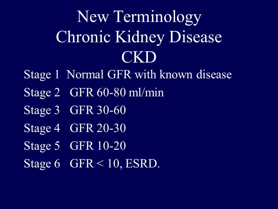 New Terminology Chronic Kidney Disease CKD