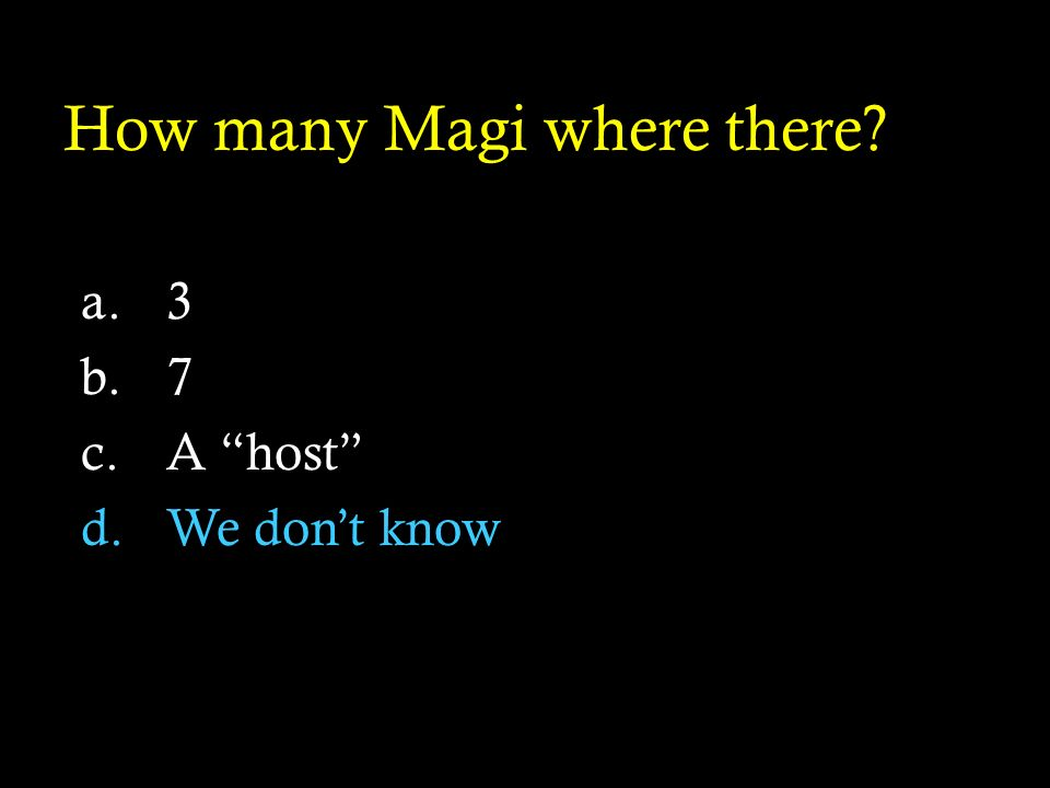 How many Magi where there