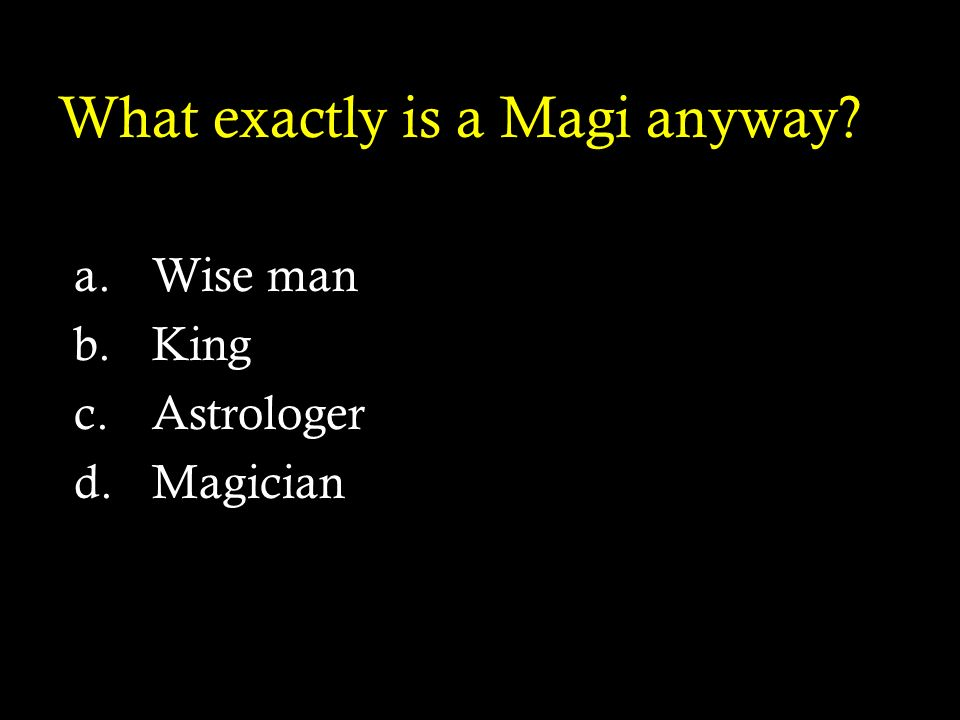 What exactly is a Magi anyway
