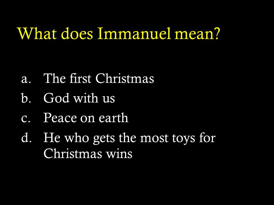 What does Immanuel mean