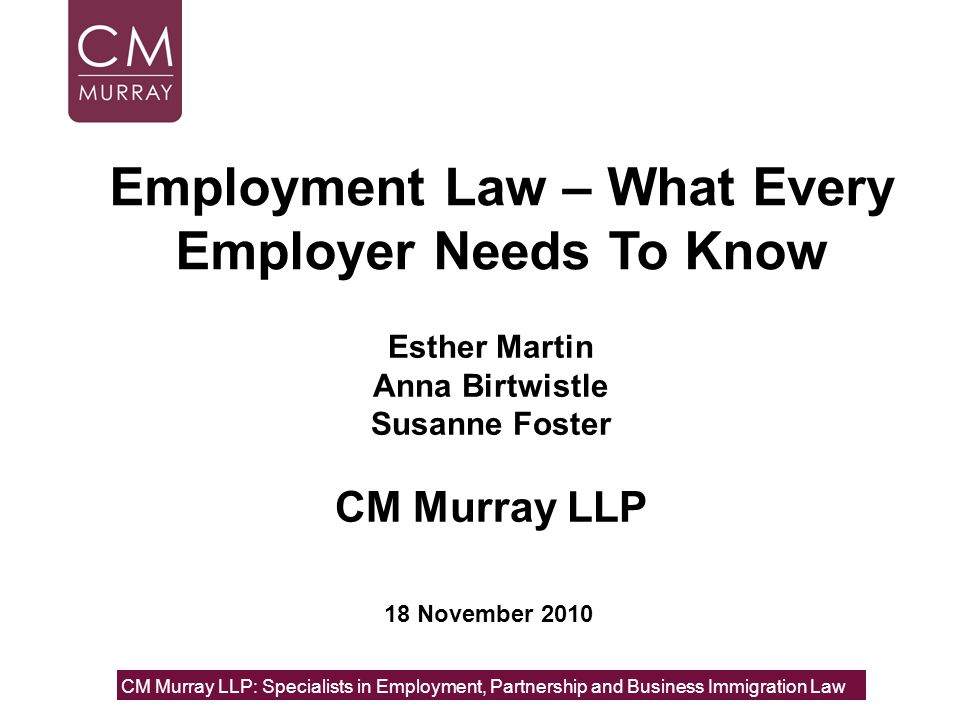 Esther Martin Anna Birtwistle Susanne Foster CM Murray LLP