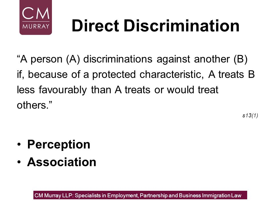 Direct Discrimination