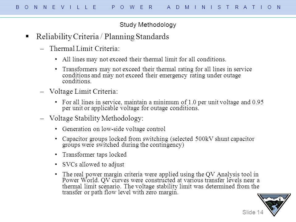 Reliability Criteria / Planning Standards