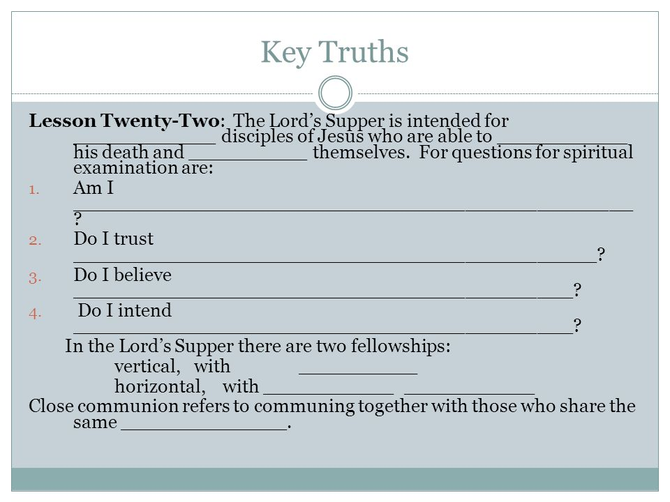 Key Truths
