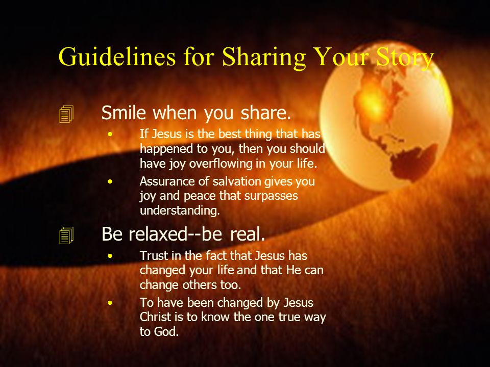 Guidelines for Sharing Your Story