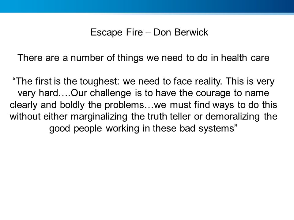 Escape Fire – Don Berwick