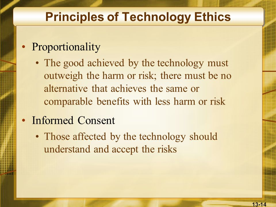 Principles of Technology Ethics