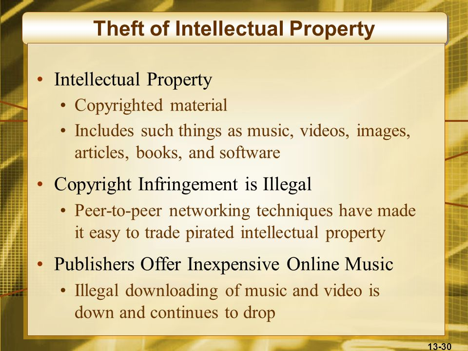 Theft of Intellectual Property