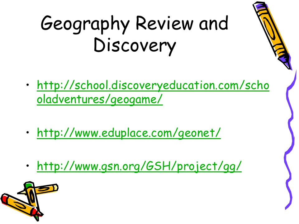 Geography Review and Discovery