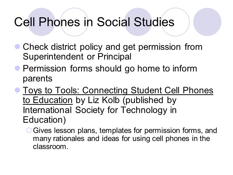 Cell Phones in Social Studies