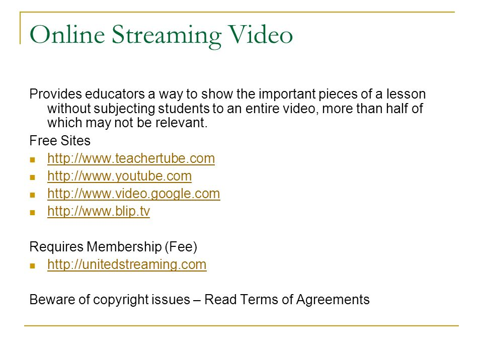 Online Streaming Video