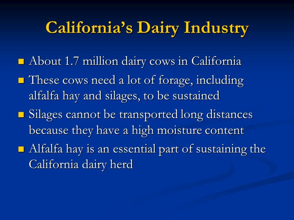 California's Dairy Industry