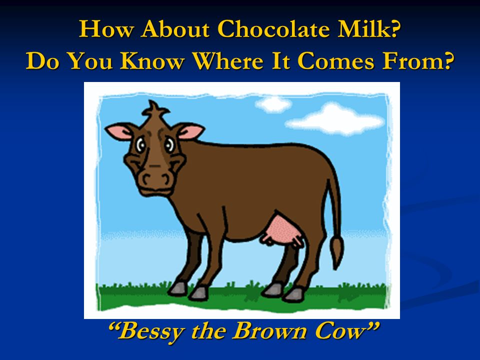 How About Chocolate Milk Do You Know Where It Comes From
