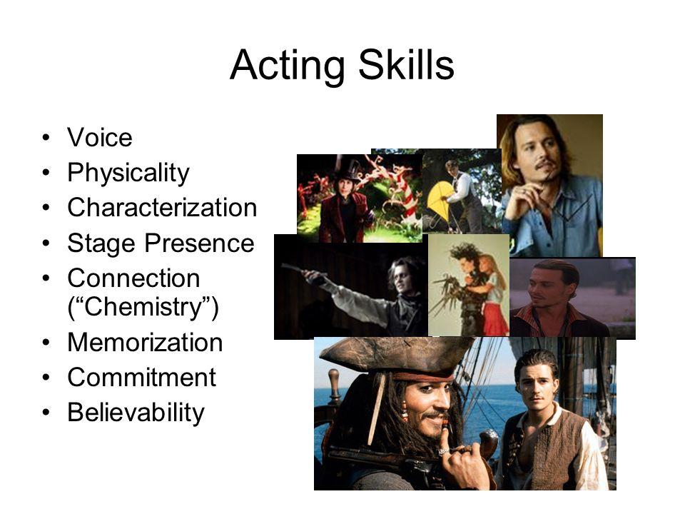 Acting Skills Voice Physicality Characterization Stage Presence