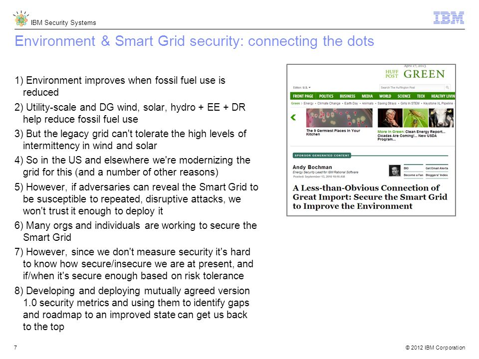 Environment & Smart Grid security: connecting the dots