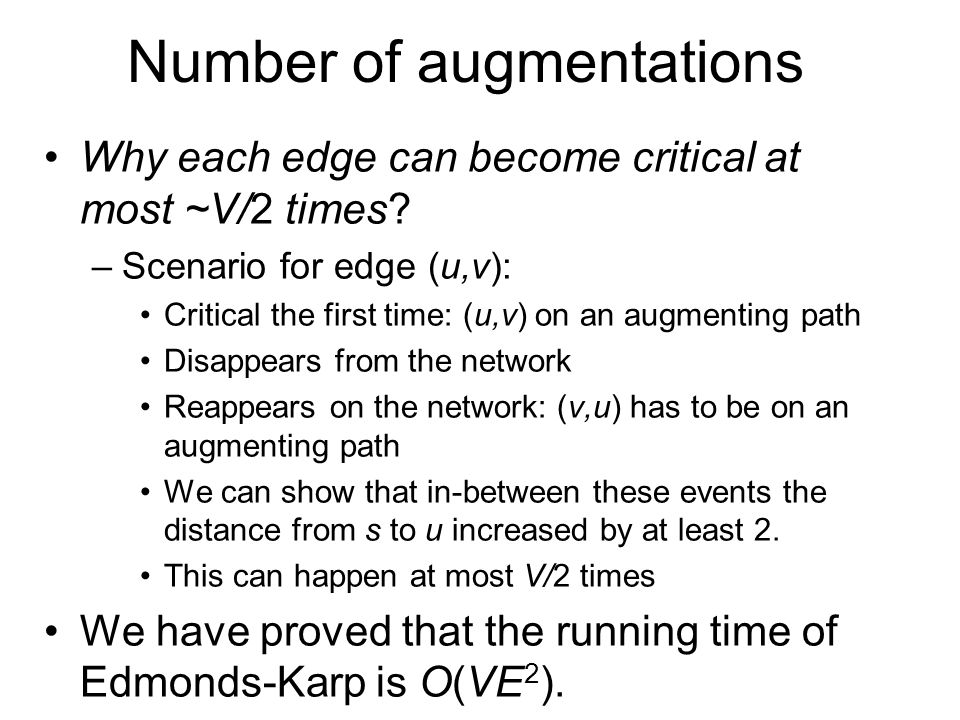 Number of augmentations